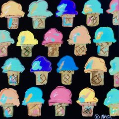 Ice Cream Cones.  36 x 36