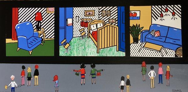The Lichtenstein Room Room. 36 x 72