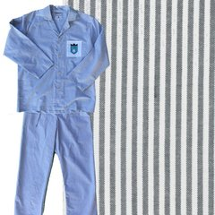 Men's Pajama Set. 100% Oxford Cloth. Black/White. Made in America.