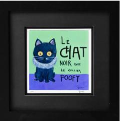 Le Chat Noir avec Le Collier Poofy