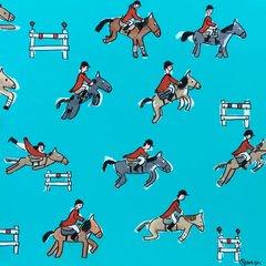 Equestrians. 36 x 36