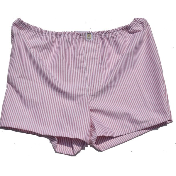 Men's Boxer Shorts. Red/White Oxford Cloth. CLEARANCE!