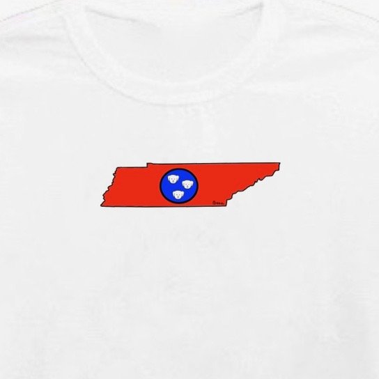 Tennessee State Dog. Unisex t-shirt, available in other colors.