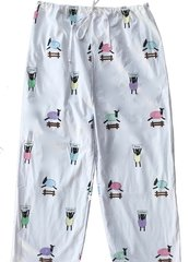 Men's All Cotton Counting White Sheep Pajama Pants.  Made in America.