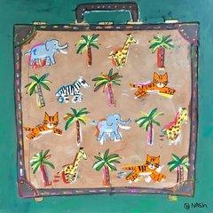 The Darjeeling Limited Luggage.  48 x 48
