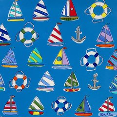 Smooth Sailing.  36 x 36