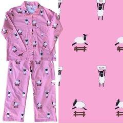 Women's Pink Sheep Pajama Set. Made in America.