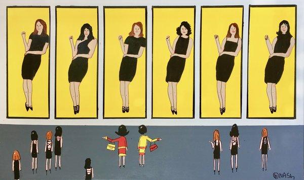 The Alex Katz Little Black Dress Museum. 36 x 60
