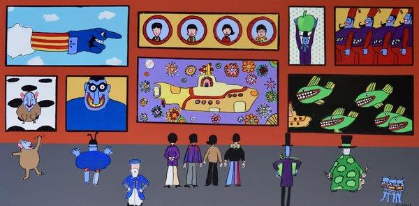 The Beatles Cartoon Museum. 36 x 72.