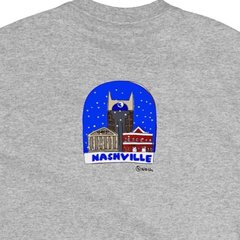 Nashville snow globe. Unisex t-shirt, available in other colors.