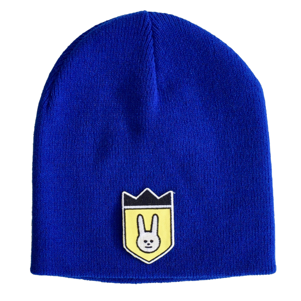"""Unisex knit beanie. """"LaLa Shield."""" available in 3 colors."""