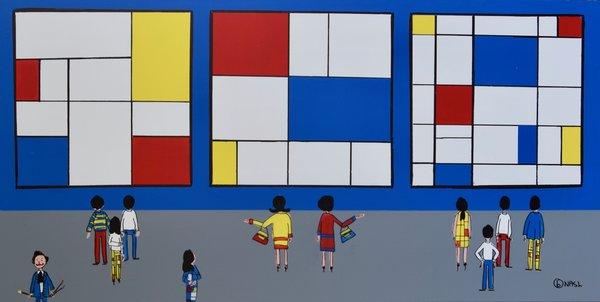 The Mondrian Museum Got De Stijl. 36 x 72.
