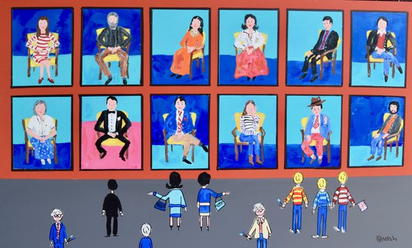 The David Hockney Portrait Gallery