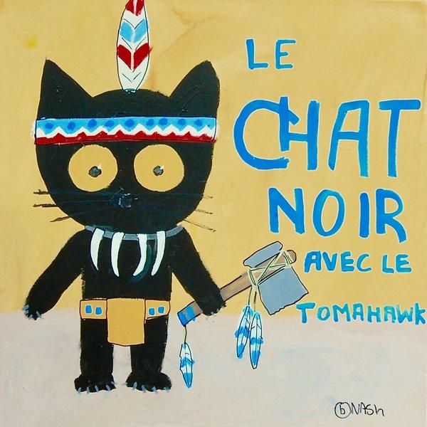 Le Chat Noir -- Indian. 36 x 36