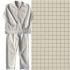 Men's Pajama Set. Ivory Tattersall. Made in America. CLEARANCE!