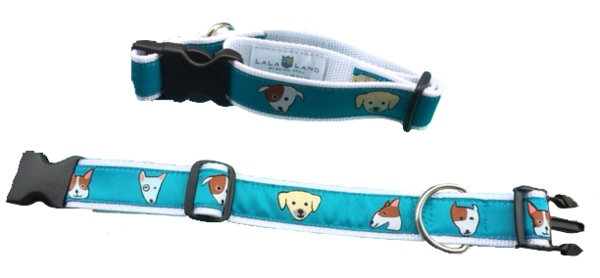 """Dog Collar, """"dog"""" print. All sizes. Made in America"""