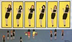Alex Katz Little Black Dress Museum. 36 x 60