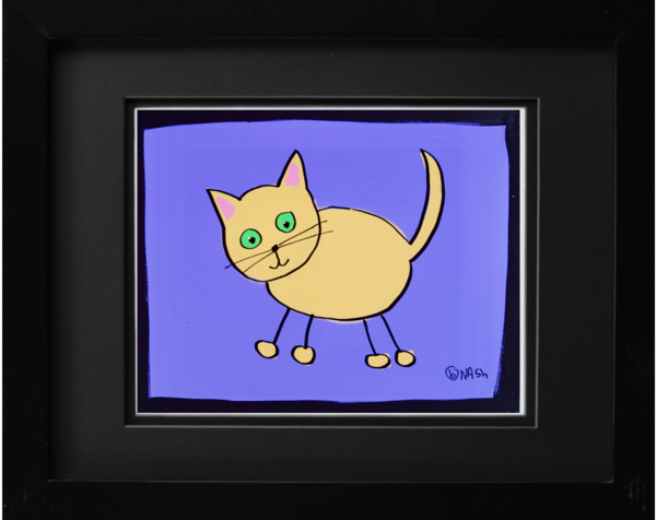 Cat Art: Yellow Cat