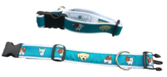 "Dog Collar, ""dog"" print. All sizes. Made in America"