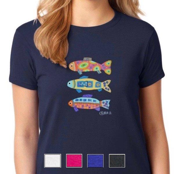 Fishy Trois, unisex t-shirt