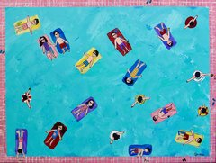 Everybody in the Pool. 36 x 48.