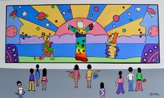 The Peter Max Museum. 36 x 60.