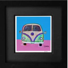 Car Art: Vintage VW Bus