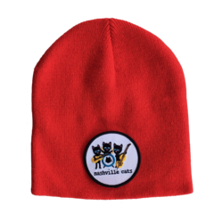 """Unisex knit beanie. """"Nashville Cats."""" available in three colors."""