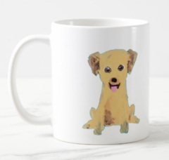 The Pet Lover's Package -- Ribbon belt, leash, dog collar coffee mug portrait, and t-shirt ALL PERSONALIZED WITH YOUR PET
