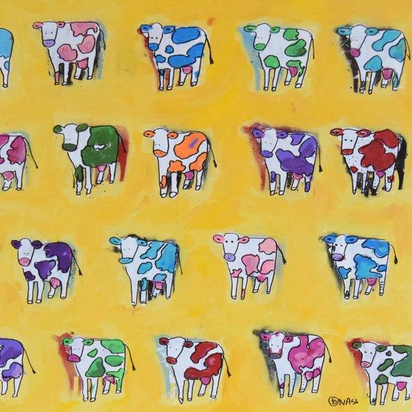 Cows. 36 x 36.