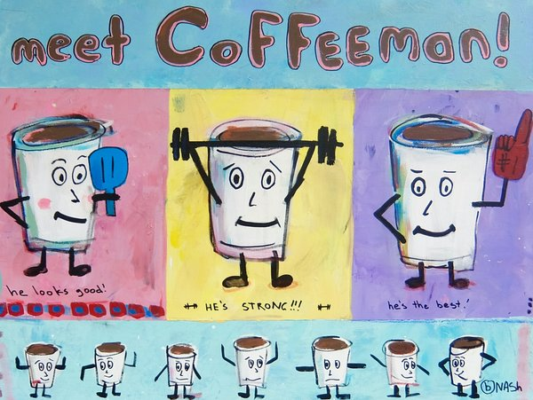 Meet Coffeeman!  36 x 48