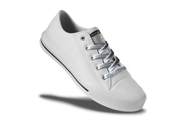 Retro Ladies - White/Silver Lace