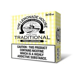 TRADITIONAL ELIQUID BY THE LEMONADE HOUSE (3 X 10ML)