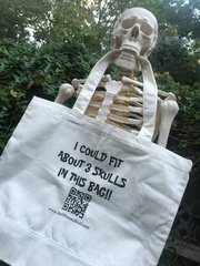 "Skull Tote Bag ""I could fit 3 Skulls in this bag!"""