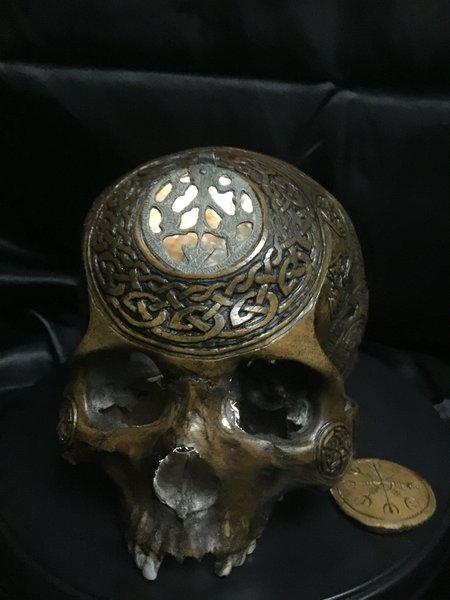 The Odin Seer Real Human Skull Carved By Zane Wylie Zane Wylie