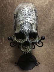Sith Ritual Skull Real Elongated Peruvian Skull Replica Carved by Zane Wylie - Sith Lord - Star Wars