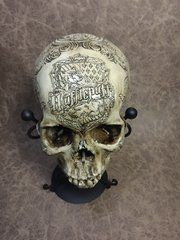 Hufflepuff Theme Real Human Skull Replica Carved By Zane Wylie