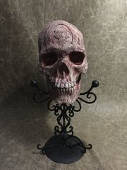 Edgar Allan Poe Skull Carved By Zane Wylie - Signed & Numbered -