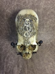 Death Eater Theme Skull Carved By Zane Wylie - Harry Potter Theme