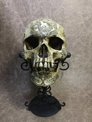 Slytherin Theme Real Human Skull Replica Carved by Zane Wylie