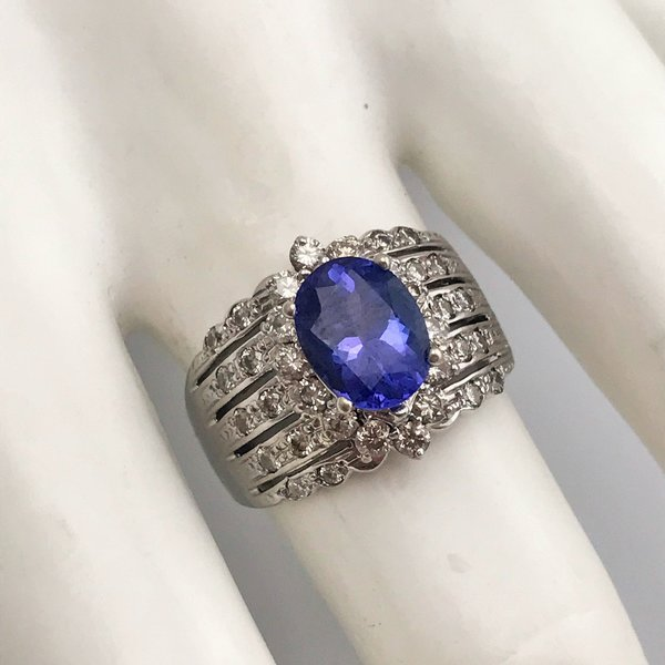 tw w tanzanite ct le diamond in t vian for rose jewelry chocolatierr r macys lyst gold and chocolatier created ring