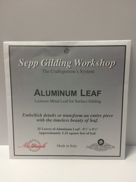 Sepp leaf aluminum silver leaf 25pk epic paint company for Aquabond paint