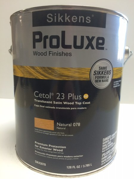 Sikkens Proluxe Cetol 23 Plus 078 Natural Exterior Stain