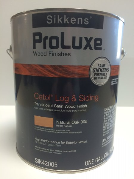 sikkens proluxe cetol log siding 005 natural oak exterior stain epic paint company. Black Bedroom Furniture Sets. Home Design Ideas