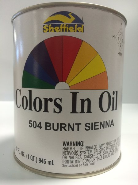 Sheffield bronze colors in oil qt burnt sienna epic for Aquabond paint