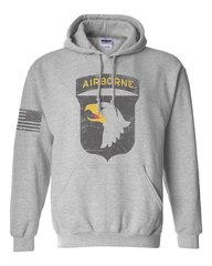 101st Airborne - Distressed Hoodie (0076)