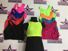 racer back crop tops for adults