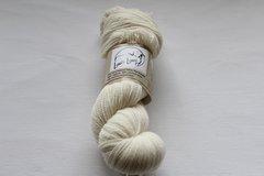 White Fingering Weight Natural Rambouillet Wool Yarn