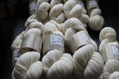 Natural White Sport Weight Yarn- 310 yards, 3 ply combed preparation