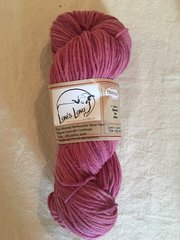 Natural Dyed with Cochineal worsted weight wool yarn - 4 oz